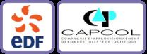 Logo EDF-CAPCOL Encadre violet