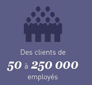 Des clients de 50 à 250000 employés
